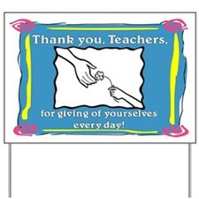 Thank You Flower for Teacher Yard Sign
