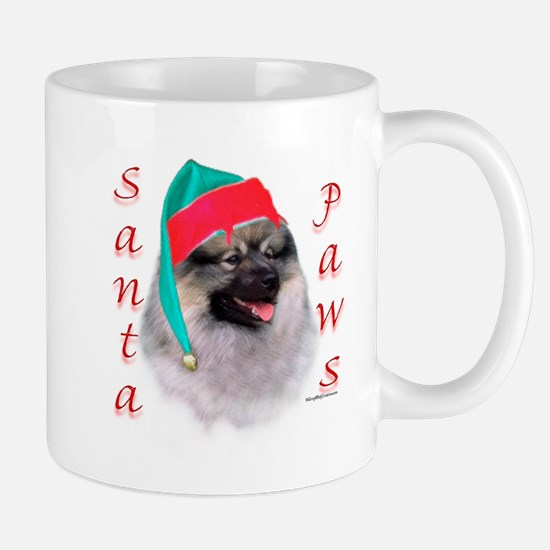 Santa Paws Keeshond Mug