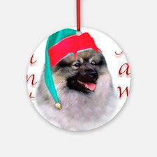 Santa Paws Keeshond Ornament (Round)