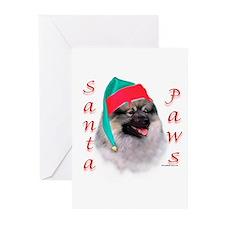 Santa Paws Keeshond Greeting Cards (Pk of 10)