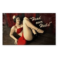 Pin Up Girl Head Over Heels Decal