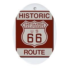 Oro Grande Route 66 Ornament (Oval)