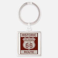 Oro Grande Route 66 Square Keychain