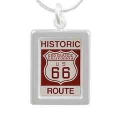 Oro Grande Route 66 Silver Portrait Necklace