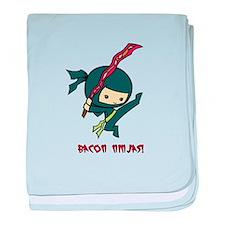 Bacon Ninjas baby blanket