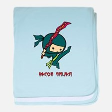 Bacon Ninjas baby blanket