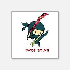 "Bacon Ninjas Square Sticker 3"" x 3"""