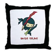 Bacon Ninjas Throw Pillow