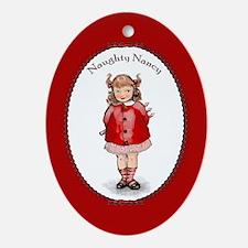 Naughty Nancy Ornament (Oval)