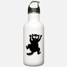 Funny Cat Cool Cartoon Water Bottle