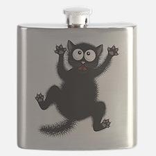 Funny Cat Cool Cartoon Cute Space Cat Flask
