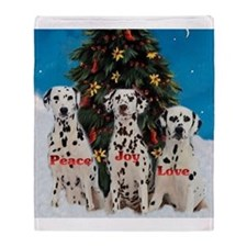 Dalmatian Christmas Throw Blanket
