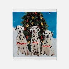 Dalmatian Christmas Throw Blanket