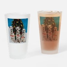 Dalmatian Christmas Drinking Glass