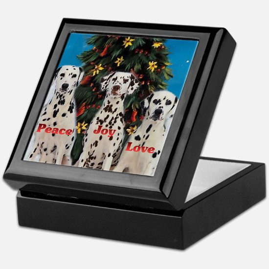 Dalmatian Christmas Keepsake Box