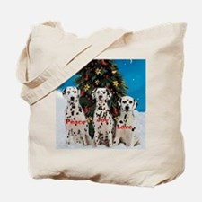 Dalmatian Christmas Tote Bag
