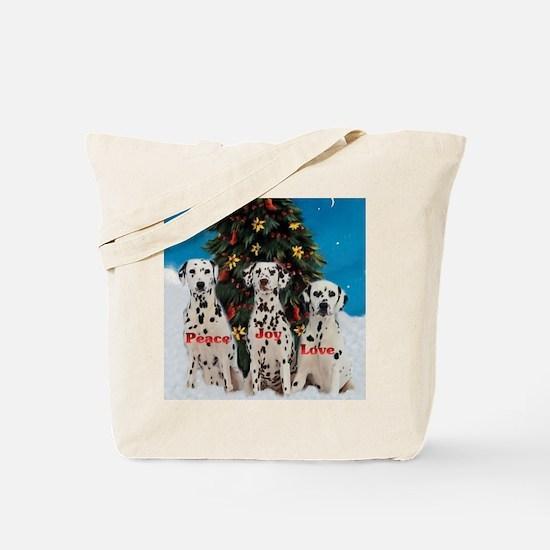 Dalmatian Christmas Tote Bag