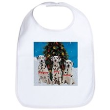 Dalmatian Christmas Bib