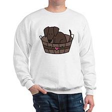 Dog In Basket Sweatshirt