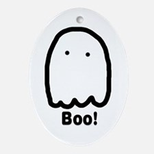 Boo Ghostie Oval Ornament