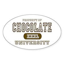 Chocolate University Oval Decal
