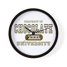 Chocolate University Wall Clock