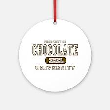 Chocolate University Ornament (Round)