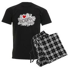 I Love House Music Pajamas