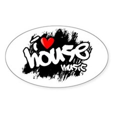 I Love House Music Decal