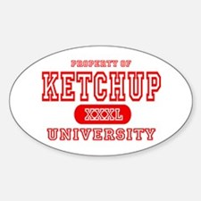 Ketchup University Catsup Oval Decal