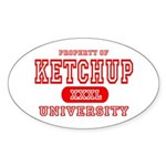 Ketchup University Catsup Oval Sticker
