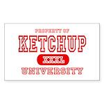 Ketchup University Catsup Rectangle Sticker