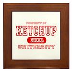 Ketchup University Catsup Framed Tile
