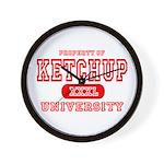 Ketchup University Catsup Wall Clock
