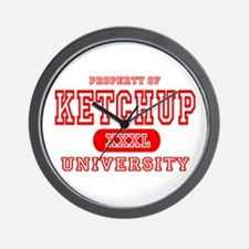 Ketchup University Catsup Wall Clock