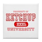 Ketchup University Catsup Tile Coaster