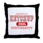 Ketchup University Catsup Throw Pillow