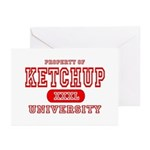 Ketchup University Catsup Greeting Cards (Package