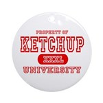 Ketchup University Catsup Ornament (Round)