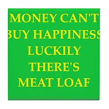 meat loaf Tile Coaster