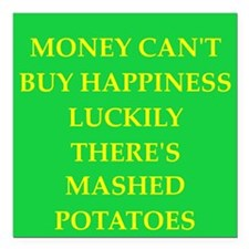 "MASHed potatoes Square Car Magnet 3"" x 3"""