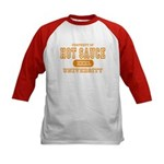 Hot Sauce University Kids Baseball Jersey