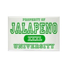 Jalapeno University Pepper Rectangle Magnet