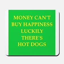 hot dogs Mousepad