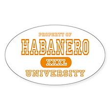 Habanero University Pepper Oval Decal