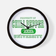 Chili Pepper University Wall Clock
