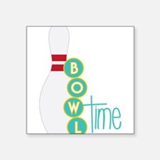 "Bowl Time Square Sticker 3"" x 3"""