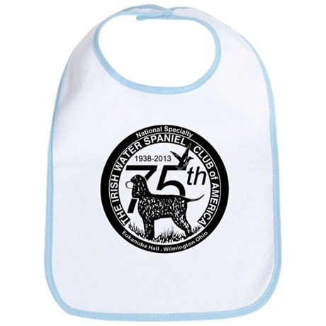 IWSCA 75th Anniversary logo in Black & White Bib