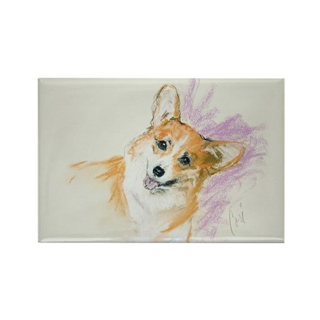 All Smiles Corgi Rectangle Magnet (10 pack)