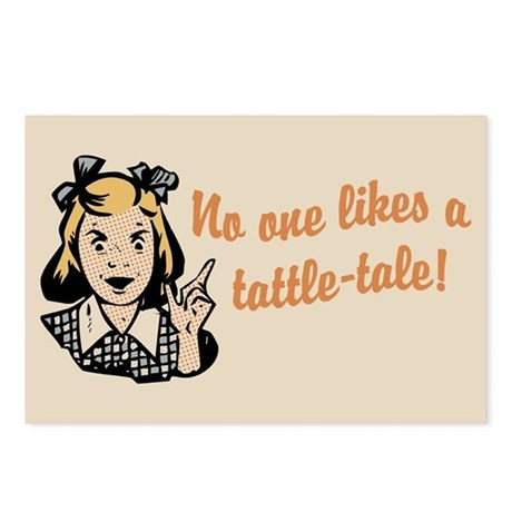 No One Likes A Tattle Tale Postcards (Package of 8